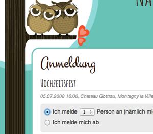 WeddingDonkey - Erstellt eure eigene Hochzeitshomepage mit online Anmeldeformular
